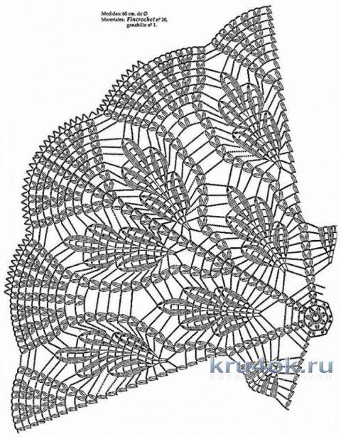 Шаль Дубовые листья крючком. Работа Галины Казымовой вязание и схемы вязания