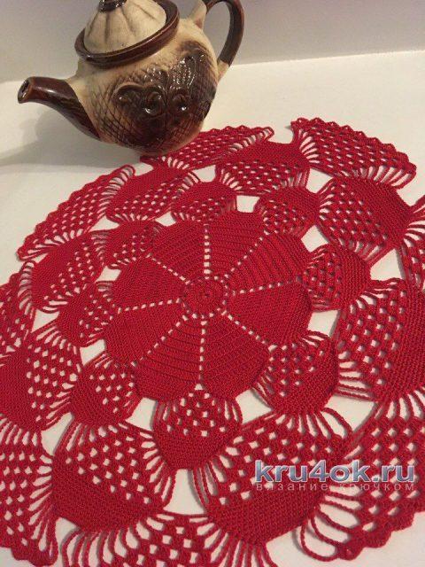 Вязаная крючком салфетка. Работа Татианы вязание и схемы вязания