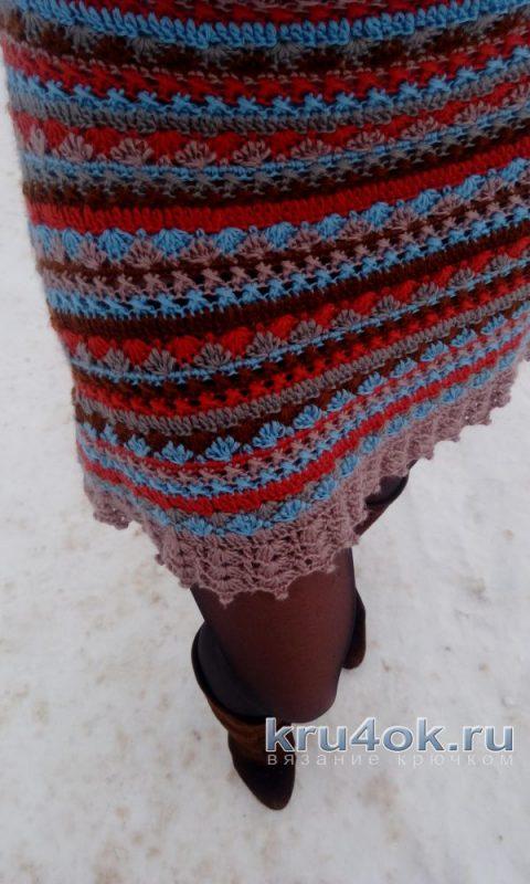 Вязаное крючком платье Сиена. Работа Марии Дайнеко вязание и схемы вязания