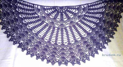 Вязаные шали крючком. Работы Галины Казымовой вязание и схемы вязания