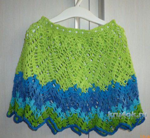 Юбка для девочки крючком. Работа Ольги вязание и схемы вязания