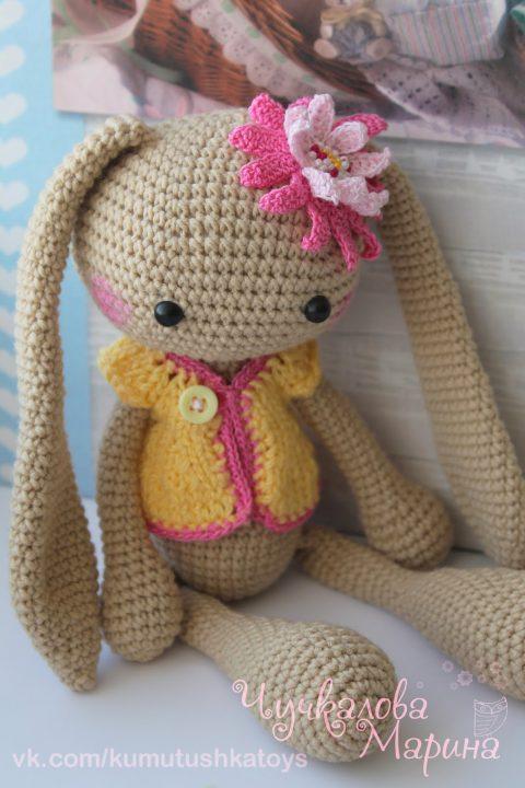 Заяц крючком с большими ушами