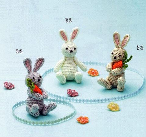 Заяц — амигуруми крючком