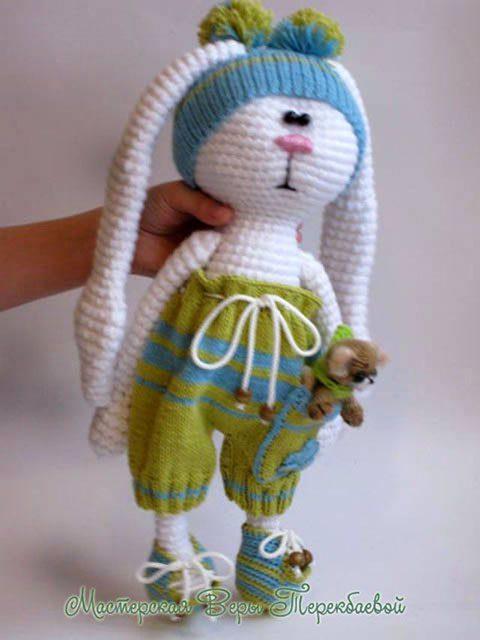 Заяц крючком от Веры Терекбаевой