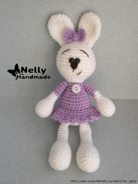 Заяц крючком по описаниюmy-crochet-privacy