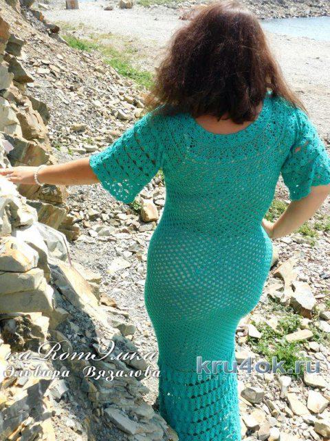 Авторское платье Изумруд от мастерицы Эльвиры Вязаловой вязание и схемы вязания
