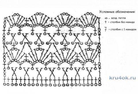 Болеро (шраг) крючком. Работа Ольги вязание и схемы вязания