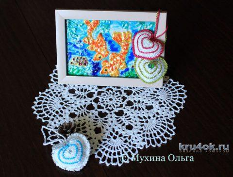 Чайный набор салфеток. Работа Мухиной Ольги вязание и схемы вязания
