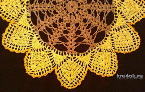 Цветные салфетки. Работа Галины Коржуновой вязание и схемы вязания