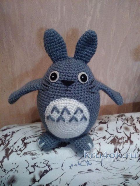 Игрушка Тоторо крючком. Работа Елены Аистовой вязание и схемы вязания