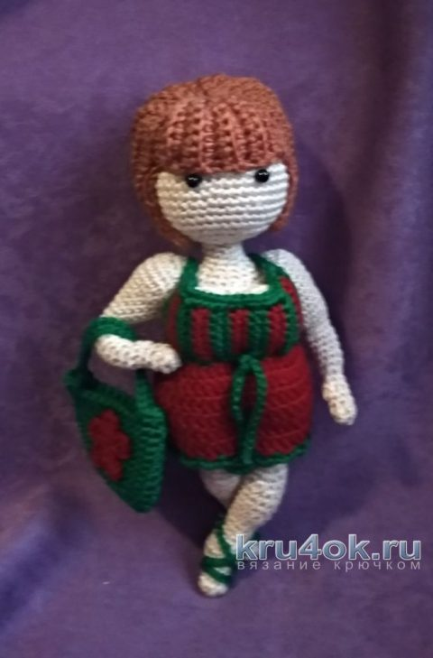 Кукла Сюзетт крючком. Работа Ольги Гириной вязание и схемы вязания