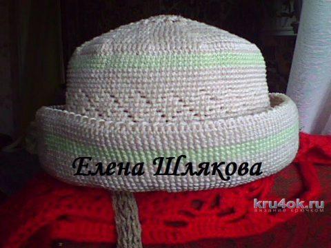 Летняя шляпка крючком. Работа Елены Шляковой вязание и схемы вязания