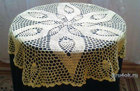 Лимонная салфетка крючком. Работа Галины Коржуновой вязание и схемы вязания