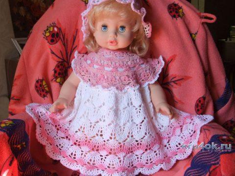 Платье для девочки крючком. Работа Маргариты вязание и схемы вязания