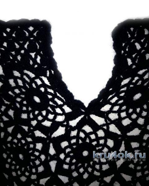 Пуловер Черника крючком. Работа Евгении Руденко вязание и схемы вязания