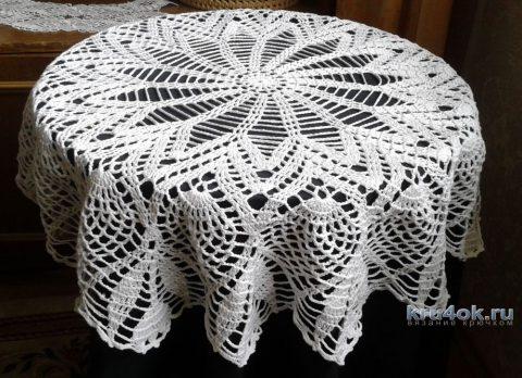 Скатерть - салфетка крючком. Работа Галины Коржуновой вязание и схемы вязания