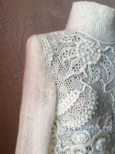 Свитер, выполненный в стиле ирландского кружева вязание и схемы вязания