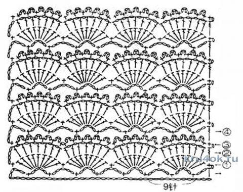 Воздушный жакет крючком от мастерицы Эльвиры Вязаловой вязание и схемы вязания