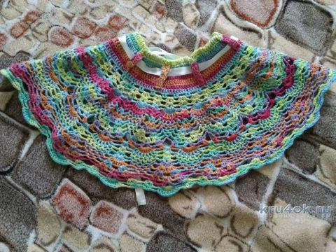 Юбка для девочки крючком. Работа Кристины Филиной вязание и схемы вязания