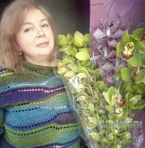 Женский свитер крючком. Работа Аллы вязание и схемы вязания