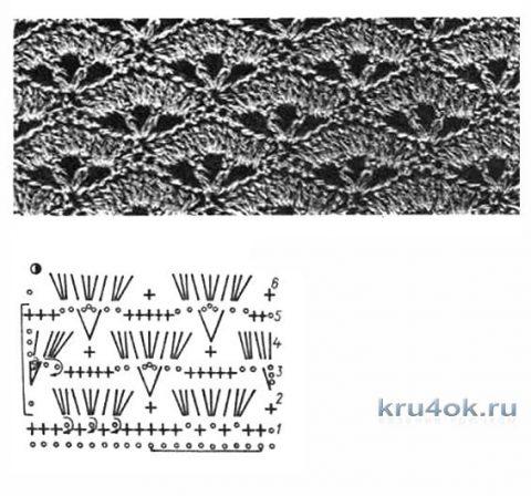 Женский топ крючком. Работа zaverolga вязание и схемы вязания