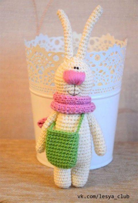 Заяц крючком от Олеси Соложенко