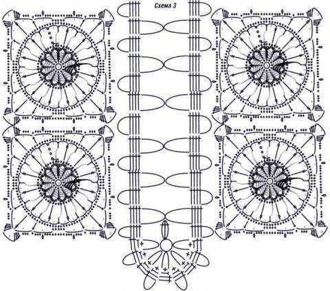 Брюггское кружево, схемы вязания