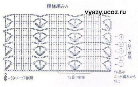 схемы ажурного женского жилета