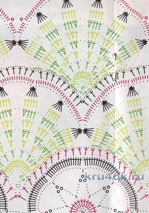 Элегантное платье с ажурной талией от мастерицы Эльвиры Вязаловой вязание и схемы вязания