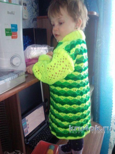 Кофточка для девочки. Работа Дроздовой Надежды вязание и схемы вязания