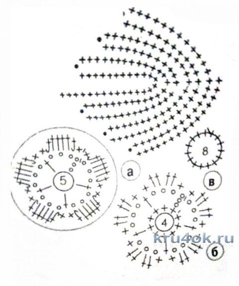 Кофточка в технике ирландского кружева. Работа Нины Яснило вязание и схемы вязания