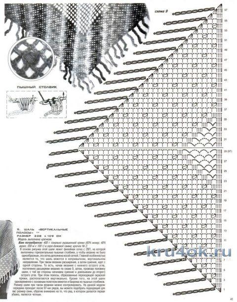Шаль - трансформер Капельки. Работа Наталии Левиной вязание и схемы вязания