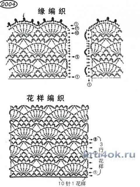 Свитер и топ крючком, связанные по одной схеме вязание и схемы вязания