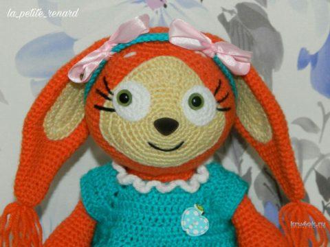 Вязаная игрушка белочка Рут крючком. Мастер - класс! вязание и схемы вязания
