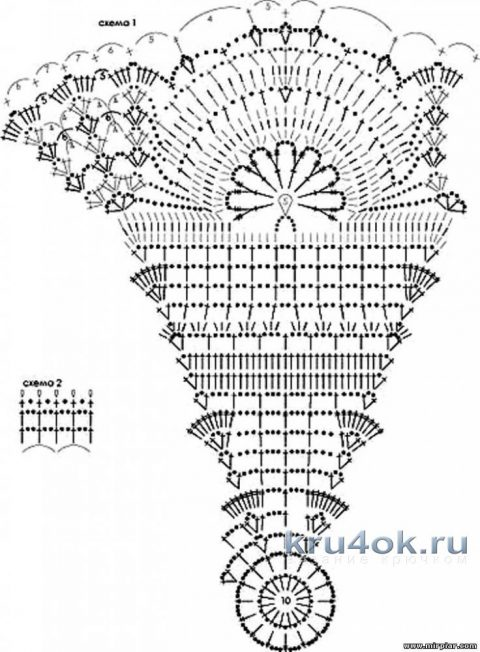 Вязаные крючком зонты. Работы Наталии Левиной вязание и схемы вязания