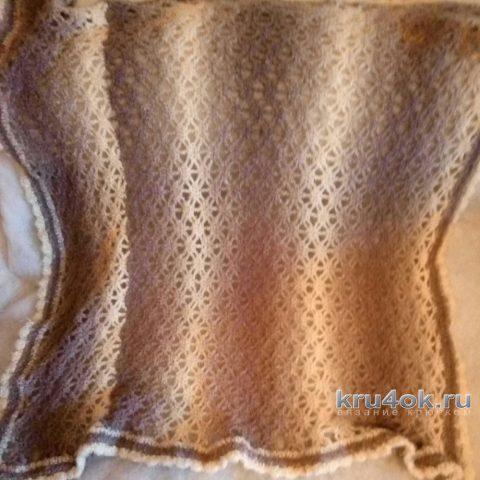 Вязаный крючком плед. Работа Ивановой Людмилы вязание и схемы вязания