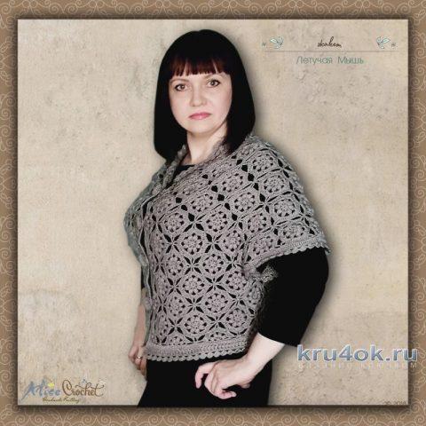 Жакет Летучая мышь. Работа Alise Crochet вязание и схемы вязания