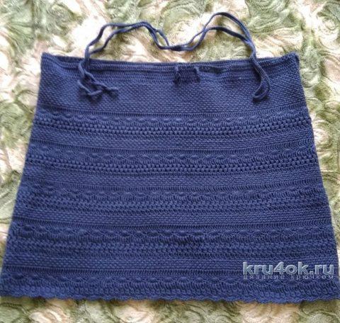 Женская юбка крючком. Работа Кристины Филиной вязание и схемы вязания