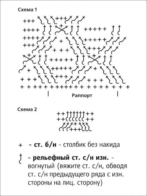 Шапочка крючком, схема вязания