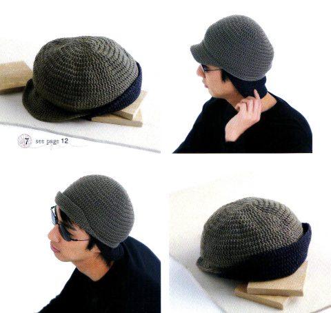 шапочки крючком для мужчин