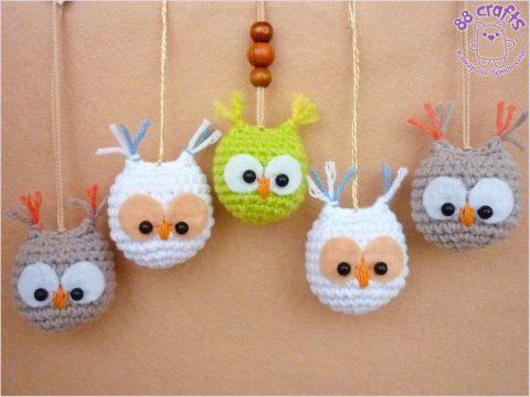 Мини — сова крючком (подвеска, брелок или игрушка) для начинающих