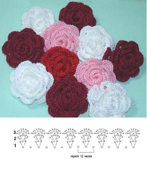 Схема цветка для повязки: