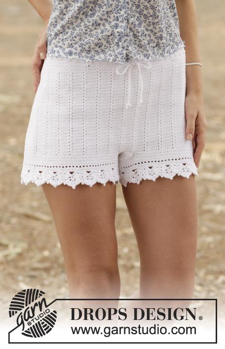 Красивые летние шорты крючком с рюшами