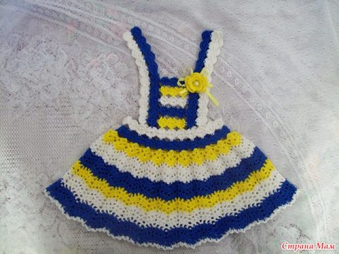 Сарафан и юбка для девочки крючком
