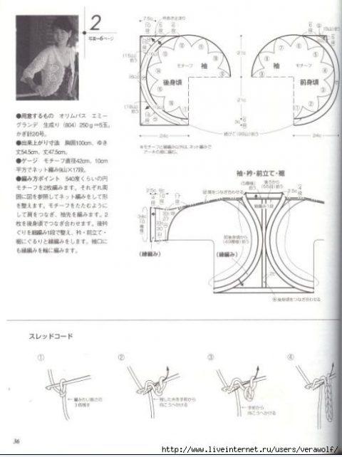 Ажурные кофты. Схемы и модели для вязания 2