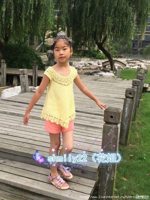 фото туники для девочки ажурной