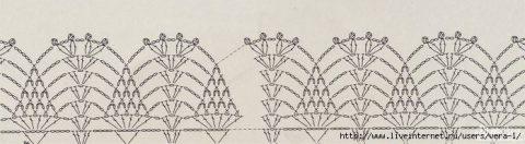 Схема туники для девочки ажурной