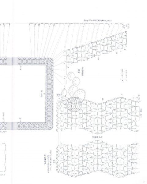 Ажурная туника для мамы и дочки схема вязания