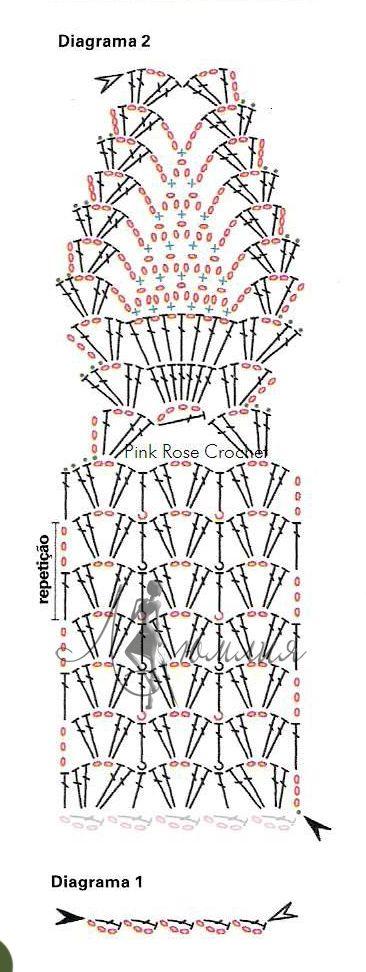 Ажурные шарфы со схемами и описанием