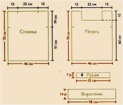 """Схема вязания узора для туники """"Ананасы крючком"""""""